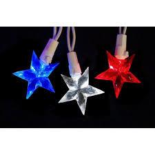set of 30 led white blue 4th of july patriotic lights