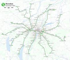 Munich Germany Map by S Bahn City Railway System In Munich Germany Foravisit Com