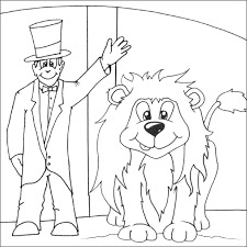 lion tamer coloring free colouring pages
