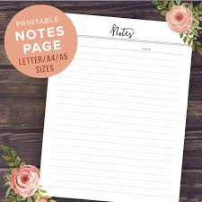 Notes Of Meeting Template notes planner pages printable notebook pages meeting notes