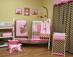 Pink And Green Nursery Decor Pink Brown And Lime Green Baby Bedding Baby Bedroom