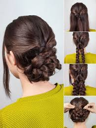 comment cuisiner des chignons how to style the braided chignon hairstyle makeup mania