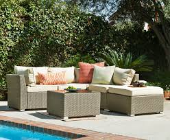 Patio Furniture Sectional Seating - the hom bas 2513 outdoor wicker patio sectional furniture