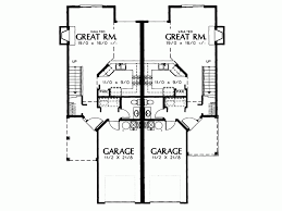 single story duplex floor plans eplans cottage house plan petite two story duplex 2394 square