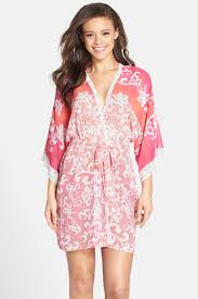 in bloom by jonquil in bloom by jonquil lace print wrap robe nordstrom rack
