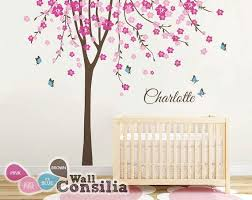 White Tree Wall Decal Nursery Tree Wall Decal Nursery Wall Decor White Tree Wall Mural Regarding