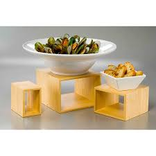 bamboo cube risers set of 3 american party rentals