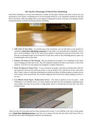 Wood Floor Refinishing Service Get Best Wood Flooring Service With Best Offers Hardwood
