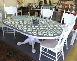 oak table pressed back chairs french linen pure white graphite