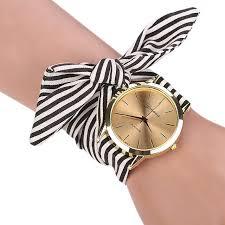 bracelet design watches images 2018 new design women 39 s watches stripe fabric bracelet clock jpg