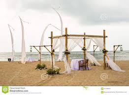 wedding on beach tropical outdoor wedding set up decoration det