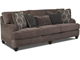 Klaussner Furniture Quality Klaussner Declan Traditional Sofa With Turned Feet Olinde U0027s