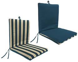 Jaclyn Smith Patio Cushions by Garden Oasis Hammond Blue Clean Look Patio Chair Cushion Sears