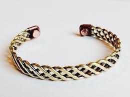 magnetic gold bracelet images Magnetic copper cuff adjustable bracelet gold tone loose twisted jpg