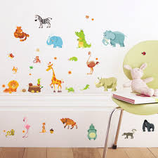 Jungle Wallpaper Kids Room by Jungle Animals Wall Stickers For Kids Rooms Safari Nursery Rooms