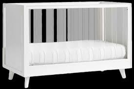 sloan acrylic convertible crib simply white decorist