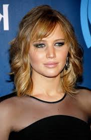 long bob wavy hairstyles jennifer lawrence hairstyles from short