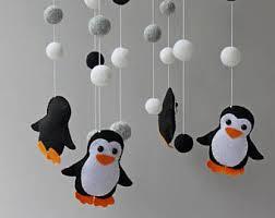 mobile kinderzimmer pinguin mobile etsy