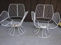 wrought iron patio ottoman homecrest metal swivel patio chairs vintage wrought iron mid century