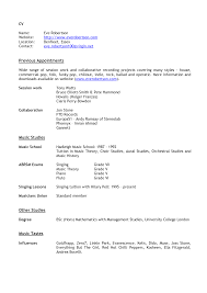 Business Resume Template Word Music Business Resume Resume For Your Job Application