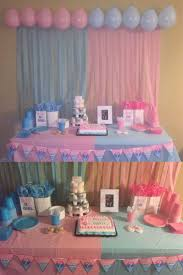 Baby Shower Table Decoration by Best 25 Gender Reveal Decorations Ideas On Pinterest Baby