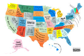 can you me a map of the united states magazine the musical map of the united states