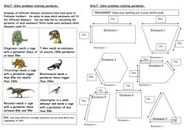 dinosaur perimeter investigation by mrspomme teaching resources