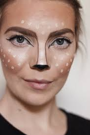 last minute halloween makeup simple deer makeup via lauren