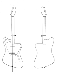 simple work detail electric guitar plans and templates