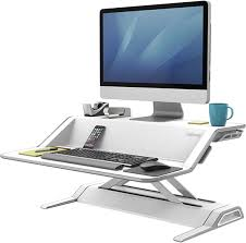 Desk Computer Stand Introducing Sit Stand Fellowes