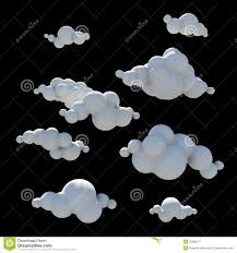 cartoon clouds design element png transparent background stock