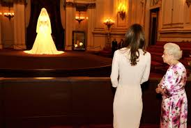 display wedding dress kate middleton s wedding dress on display