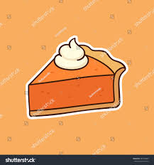 drawing pumpkin pie topped stock vector 487728403