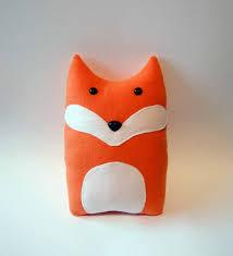 diy fox pattern woodland pillow plush fleece fabric animal