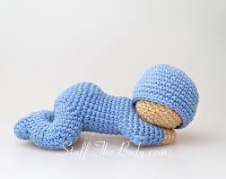 sleeping baby amigurumi pattern sleepy doll crochet pattern
