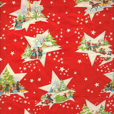 vintage 1950s christmas gift wrap paper is so charming crazy for