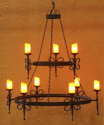 Pleasing Rustic Wooden Wrought Iron Chandeliers Shades Of Light