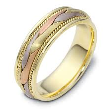 braided band men s braided two tone gold band 313