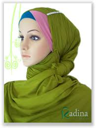 tutorial hijab turban ala april jasmine radina jilbab november 2011