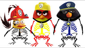 skeleton coloring paw patrol angry birds skeleton coloring pages for kids youtube