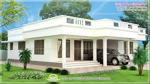 floor plan with roof plan flat roof single storey home kerala plans house plans 65422