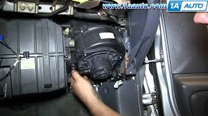 how to install replace ac heater blower fan motor 2000 04 nissan