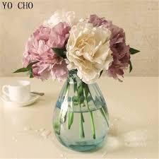 Tiffany Blue Flowers Aliexpress Com Buy Cheap Tiffany Blue Artificial Fake Peony Silk