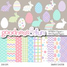 buy clipart buy 2 get 1 free simply easter clipart digital paper pack