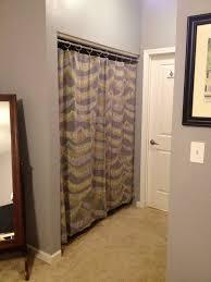 Curtain As Closet Door Zebra Closet Curtains Roselawnlutheran
