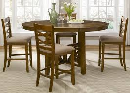 applewood round to oval single pedestal dining table with 18 inch