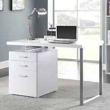 Modern White Vanity Table Modern Glossy White Vanity Table With Reversible Storage