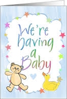 pregnancy announcement cards we re expecting announcement cards