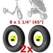 chambre air 312x52 250 2x chambre a air 8 x 1 1 4 poussette trottinette vélo enfant valve