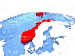 Norway On World Map by Map Of Norway On Globe Stock Vector Art 652465744 Istock
